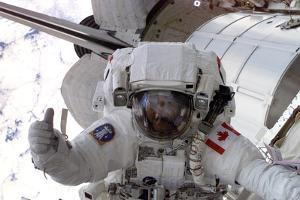 NASA Astronaut Spacewalk Space Plastic Sign