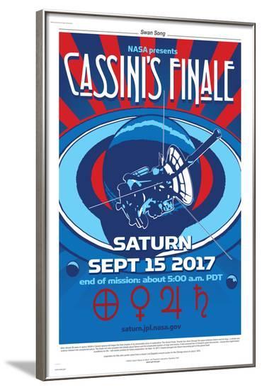 NASA Cassini: Swan Song--Framed Poster