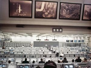 NASA Launch Control During Apollo 8, the First Manned Mission to the Moon