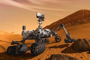 NASA Mars Curiosity Rover Spacecraft Plastic Sign