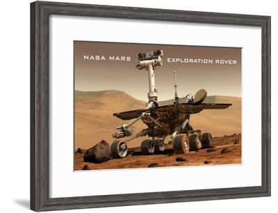 NASA Mars Exploration Rover Sprit Opportunity Photo Poster Print--Framed Poster