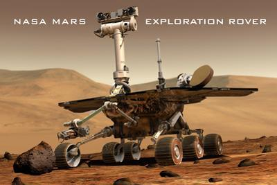NASA Mars Exploration Rover Sprit Opportunity Plastic Sign