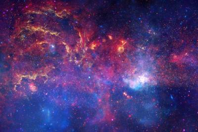 NASA's Great Observatories Examine the Galactic Center Region Space Plastic Sign