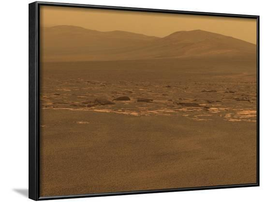 NASA's Mars Exploration Rover 'Opportunity' Recorded This Image on Aug 6, 2011--Framed Photo