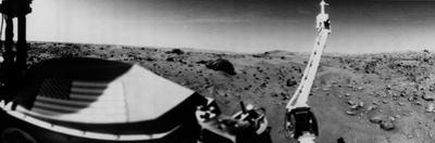 NASA's Viking 1 Beamed Back the First Panoramic View of the Rocky Surface on Mars