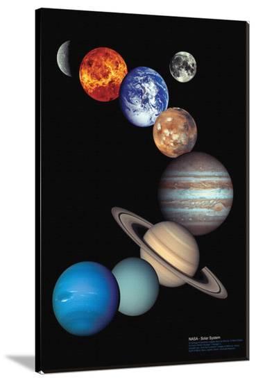 Nasa Solar System--Stretched Canvas Print