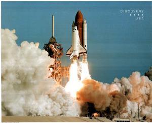 NASA Space Shuttle Blasting Off Early Morning Art Print Poster