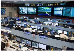 NASA Space Shuttle Flight Control Johnson Space Center Photo Poster