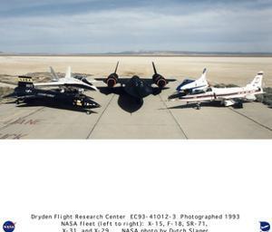 NASA (X-15, F-18, SR-71, X-31, X-29, 1993) Art Poster Print