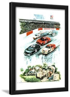 Nascar Dreams (Soapbox Derby) Art Print Poster