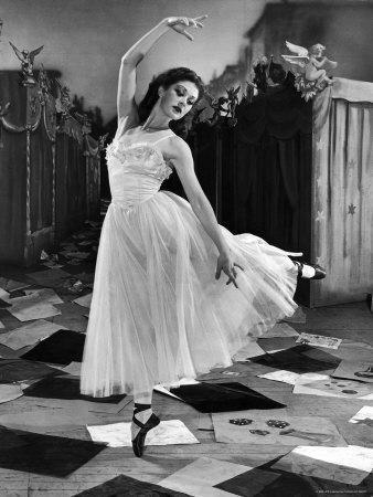 """Ballet Dancer Moira Shearer's Solo Dance in Scene from British Ballet Film """"Red Shoes"""""""