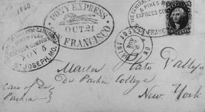 Note Sent Via the Pony Express by Nat Farbman