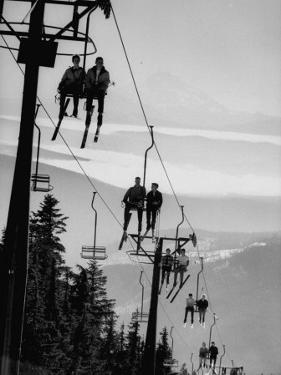Ski Lift on Mt. Hood by Nat Farbman