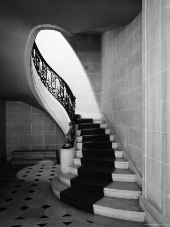 Staircase Inside Mansion Named Carolands, Built by Mrs. Harriet Pullman Carolan Schermerhorn by Nat Farbman