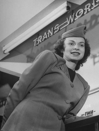 Twa Stewardess Jean Herman at Shannon Airport