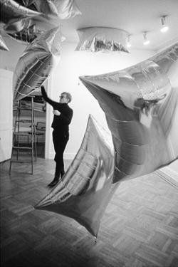 Silver Clouds Installation, Leo Castelli Gallery, NYC, 1966 by Nat Finkelstein