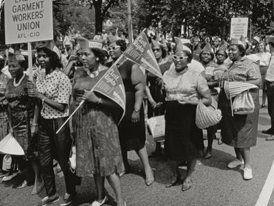 The March on Washington: Ladies Garment Workers' Union Marching on Constitution Avenue, 28th… by Nat Herz