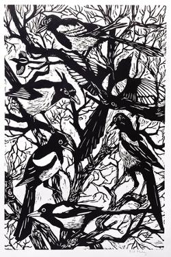 Magpies, 1997 by Nat Morley