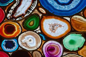 Translucent Mosaic Made with Slices of Agate Stone by Natali Glado