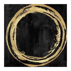 Circle Gold on Black I by Natalie Harris