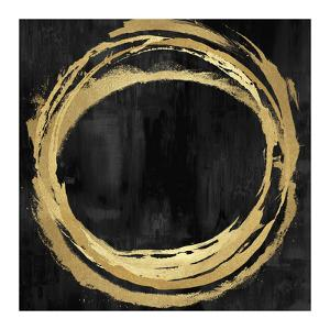 Circle Gold on Black II by Natalie Harris