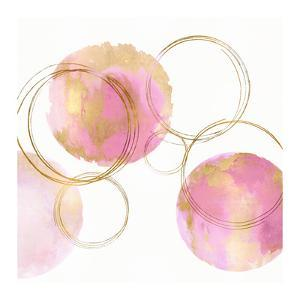 Circular Pink and Gold II by Natalie Harris