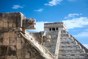 Chichen Itza, Mexico, One of the New Seven Wonders of the World, View from the Venus Platform by Nataliya Hora