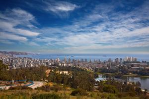 View on Vina Del Mar and Valparaiso, Chile by Nataliya Hora