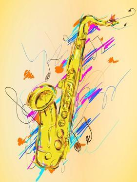Saxophone Painting Vector Art by NatanaelGinting