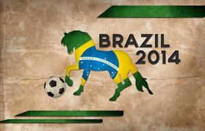 Year Of Football And Horse Of Brazil 2014 by NatanaelGinting
