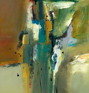 Abstract in Green II by Natasha Barnes
