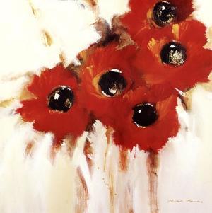 Crimson Poppies I by Natasha Barnes
