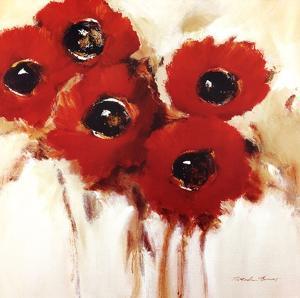 Crimson Poppies II by Natasha Barnes