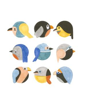 emoji birds by Natasha Marie