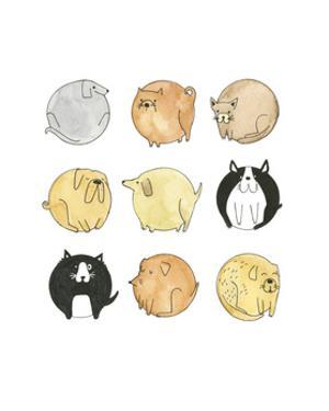 emoji dogs by Natasha Marie