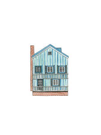 Little Striped Houses Brick