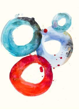 Watercolor Oval 3 by Natasha Marie