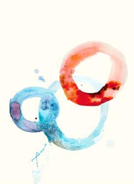 Watercolor Oval 6 by Natasha Marie