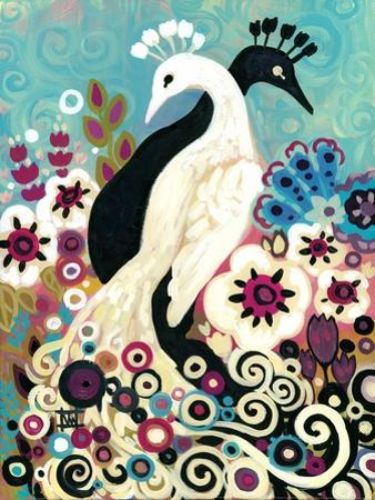 Black and White Peacock by Natasha Wescoat