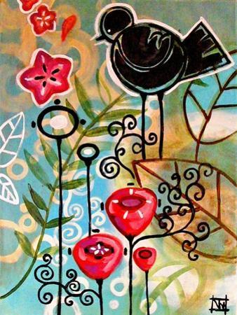 Blossoms and Blackbirds by Natasha Wescoat