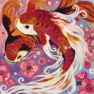 Koi and Cherry Blossoms by Natasha Wescoat