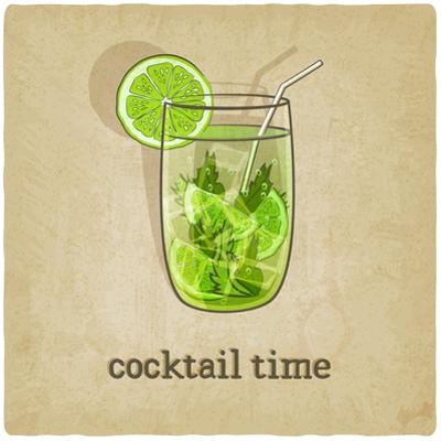 Old Background with Cocktail by natbasil
