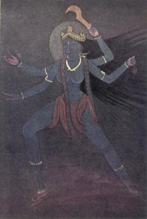 The Goddess Kali the Malevolent Aspect of Shiva's Wife Parvati