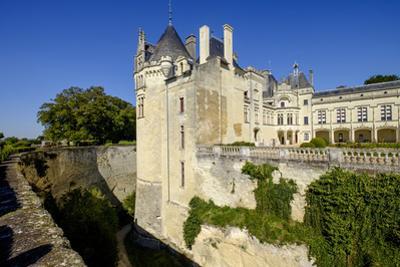Breze, castle of Breze, dated 16th century, Maine et Loire, Anjou, France, Europe by Nathalie Cuvelier