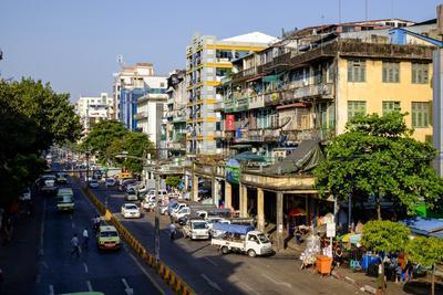 Merchant Road, Old City, Yangon (Rangoon), Myanmar (Burma), Asia