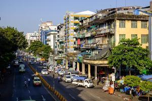 Merchant Road, Old City, Yangon (Rangoon), Myanmar (Burma), Asia by Nathalie Cuvelier