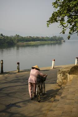 River Bank of Perfume River, Hue, Thua Thien Hue Province, Vietnam, Indochina, Southeast Asia, Asia by Nathalie Cuvelier