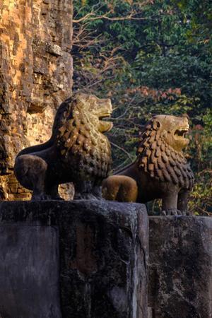Temple of Prasat Tao Build by King Jayavarman Ii Dated 9th Century, Sambor Prei Kuk by Nathalie Cuvelier
