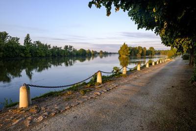 The quay along the Loire River, Chouze sur Loire, Loire Valley, UNESCO World Heritage Site, Indre e by Nathalie Cuvelier