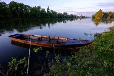 Traditional boats on Loire River, Chouze-sur-Loire, UNESCO World Heritage Site, Indre et loire, Loi by Nathalie Cuvelier